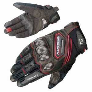 KOMINE GK-167 Carbon Fiber Mesh Motorcycle Gloves