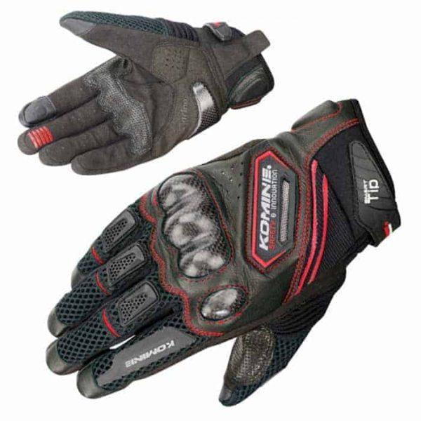 KOMINE GK-167 Carbon Fiber Mesh Motorcycle Gloves