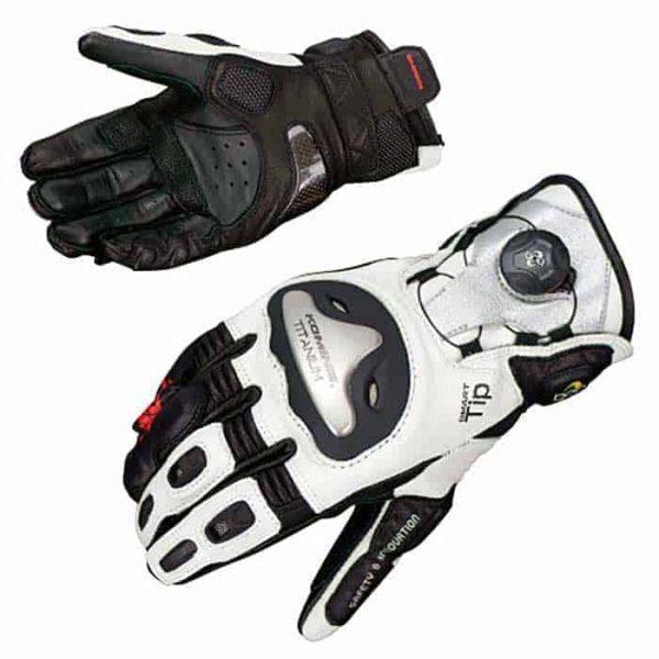 KOMINE GK-166 Titanium Motorcycle Gloves