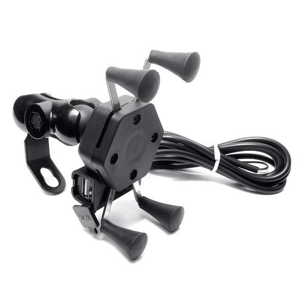 X-Grip Phone Bike Mount USB Charger Bike Mobile Holder Charger