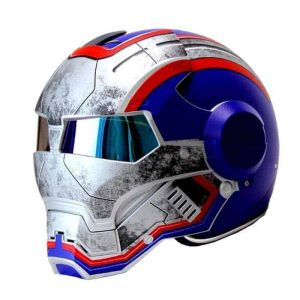 IRON PATRIOT Iron-man Motorcycle Helmet