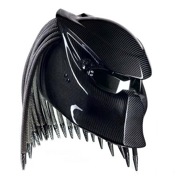 Predator Carbon Fiber Motorcycle Helmet