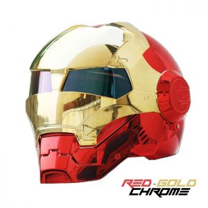 IRON MAN Motorcycle Helmet Red-Gold