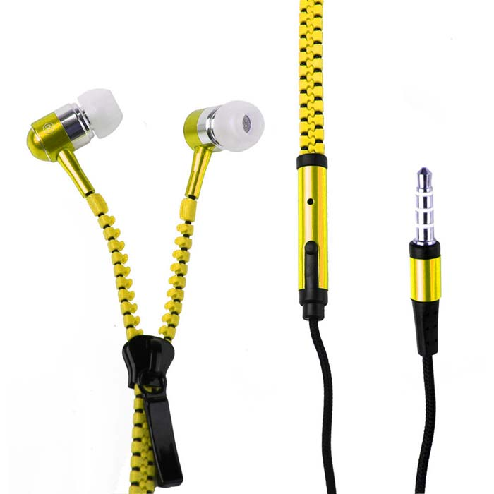 ZipBeat Stereo Earphones Zipper Earphones