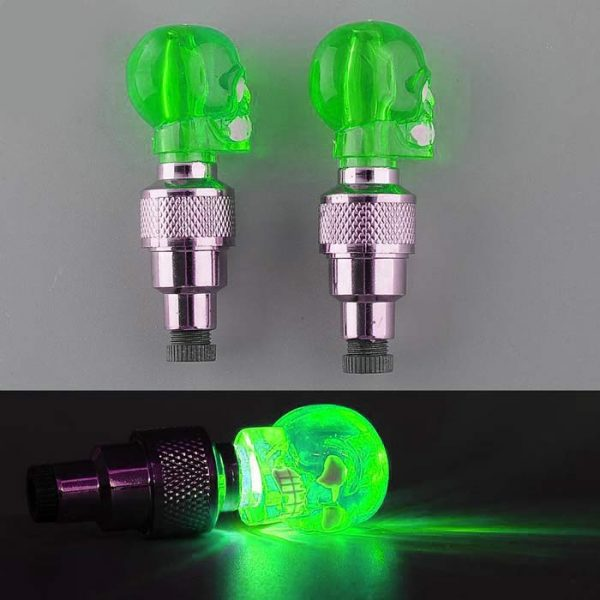 Skull Tyre Valve LED Light