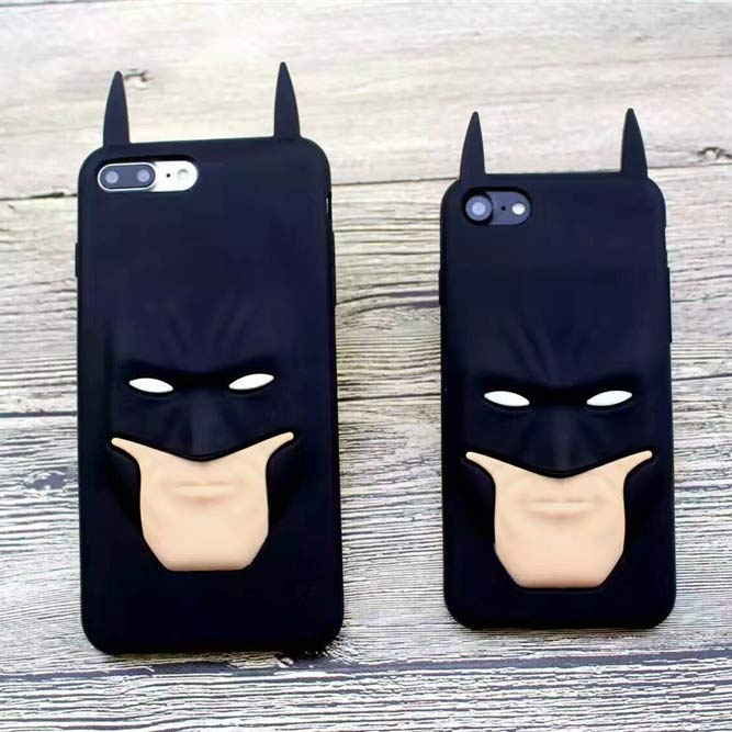 iphone 8 plus 3D Batman Face Case