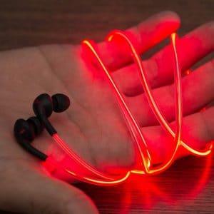 Laser Lightsaber Glow EL Earphones