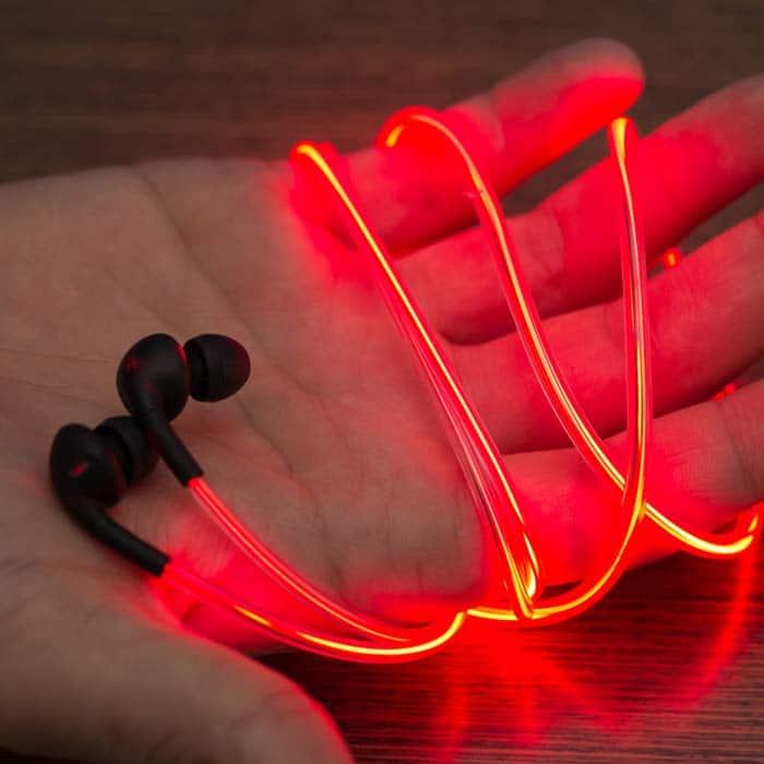 d9b96749045 World's First Laser Lightsaber Glow EL Earphones Headphone
