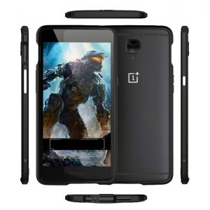 Oneplus 3T Midnight black Metal armor bumper case cover