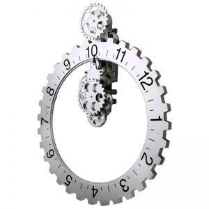 Mechanical Sprocket Clock Gear Clock
