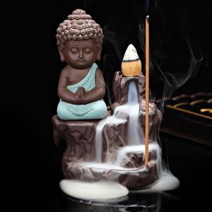 Back Flow Buddha Incense Burner
