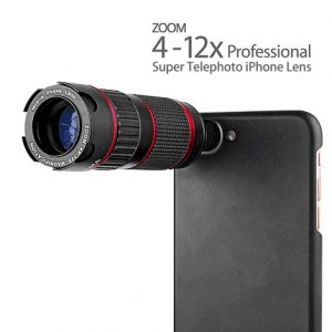 4-12X Zoom Super Telephoto iPhone DSLR Lens