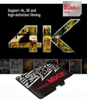 MIXZA MicroSDXC Class-10 U3 64GB Memory Card