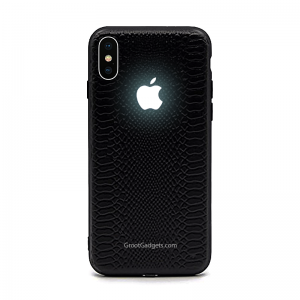 Glowing Apple Logo case Groot iphone led case Glowing Apple Logo iPhone XS LED Case