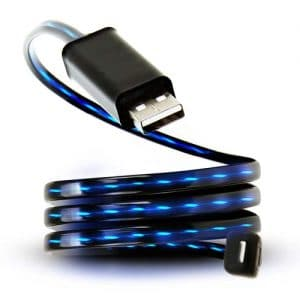 Visible Flowing Current LED Cable - USB Data Charging