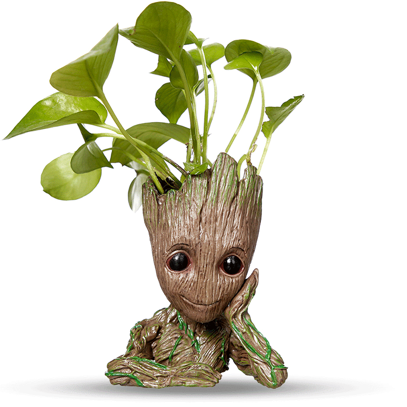 Baby Groot Pot Planter Flower Pot Pen Holder Paper