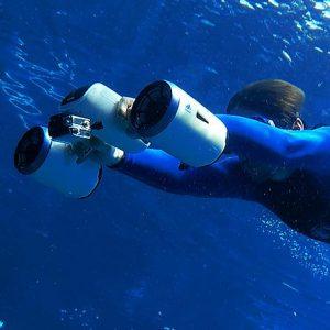 whiteshark mix underwater drone