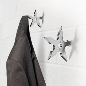 shuriken ninja coat hook
