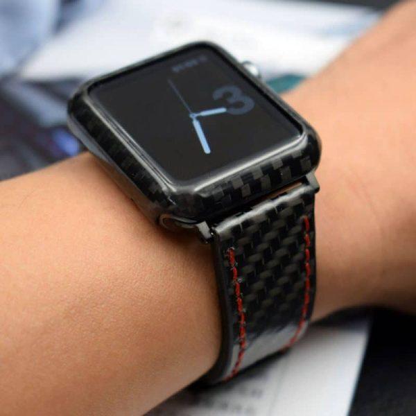 Carbon Fiber Apple Watch Band Carbon Fiber Case