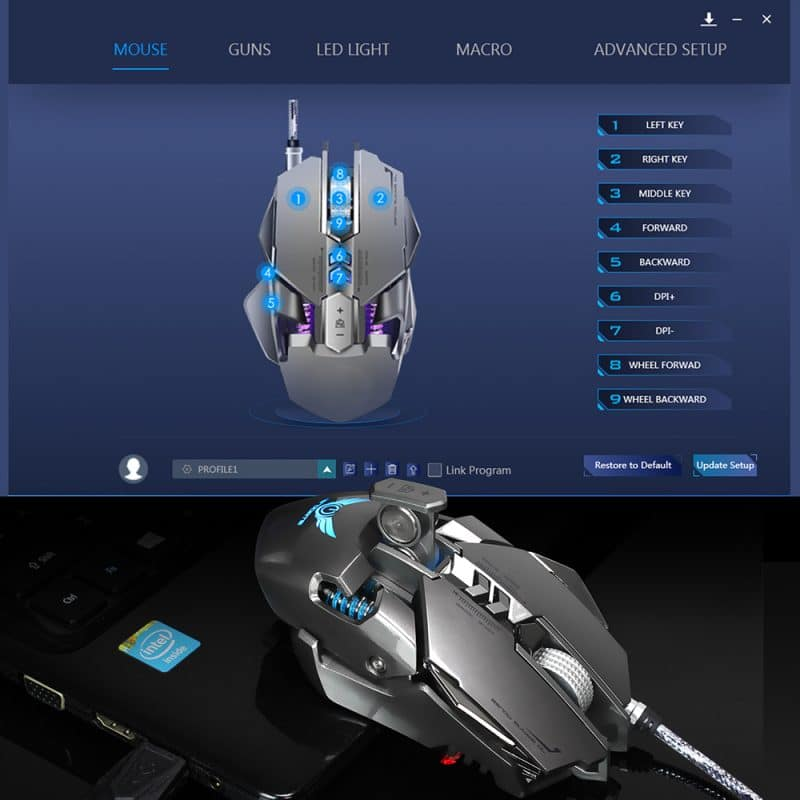 ZERODATE RGB Mechanical Gaming Mouse