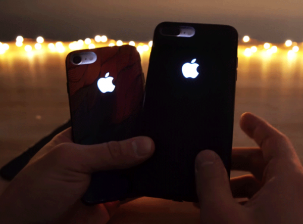 Glowing Apple Logo Case